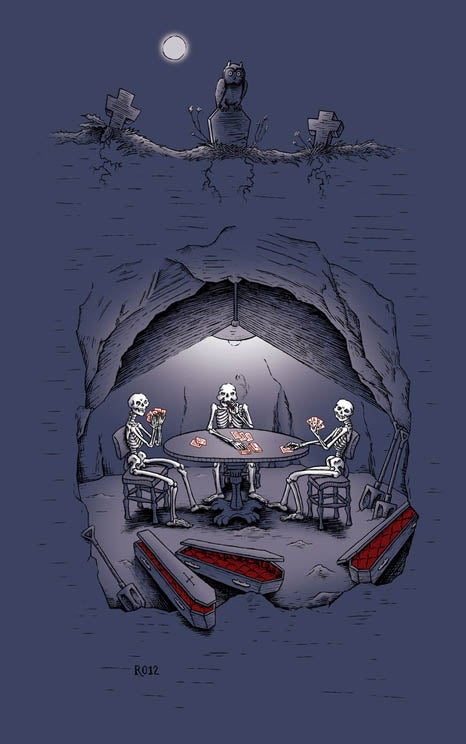 Image of Skeletons Playing Poker
