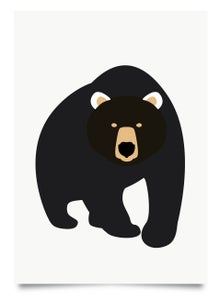 Image of Black Bear print