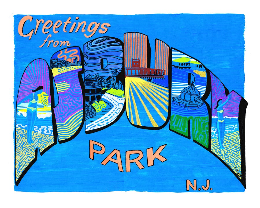 Image of Greetings From Asbury Park, Blue