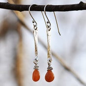 Image of Red Aventurine Sterling Silver Dangle Earrings