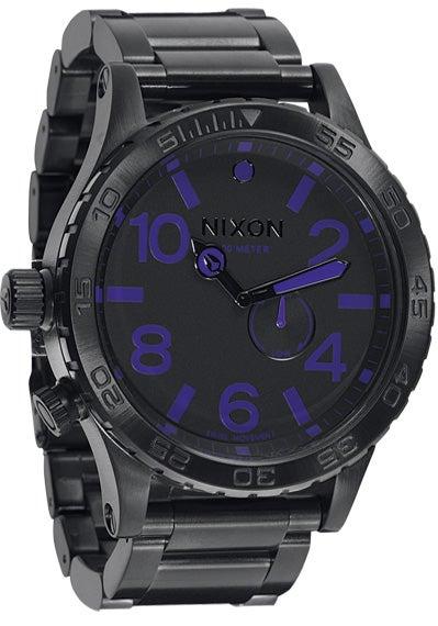 Image of Nixon 51-30 All Black/Purple