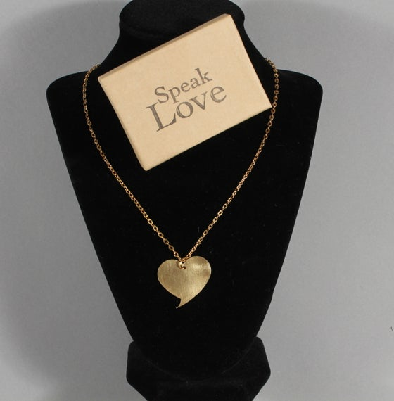 Image of Speak Love Necklace