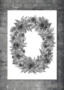 Image of IT'S ALL ABOUT THE FLOWER FRAME (white, A1)