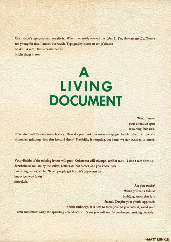 Image of A Living Document