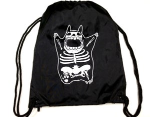 "Image of ""SKELETO"" Drawstring Tote"