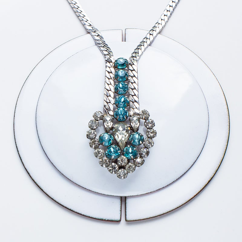 Image of Antique Garne Rhinestone Statement Necklace