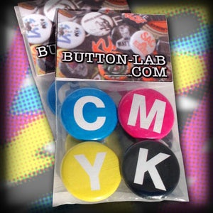 """Image of """"CMYK"""" 4 Button Pack"""