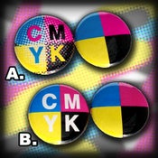 "Image of ""CMYK"" 2 Button Pack"