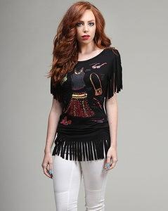 Image of Shopaholic Fringe Shirt