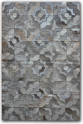 Image of 676685001542 Leather Stitch Hide - Marrakeche Grey