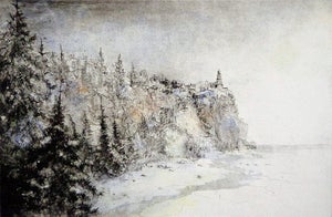 "Image of ""Winter Sunshine"", Split Rock Lighthouse, North Shore, Minnesota"