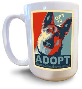 Image of Full Color Mug - Adopt a Dog