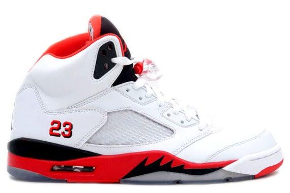 """Image of Air Jordan 5 Retro """"Fire Red"""""""