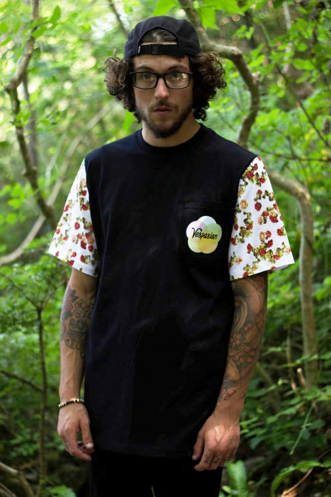 Image of Victorian Roses Cut and Sew Pocket T-shirt