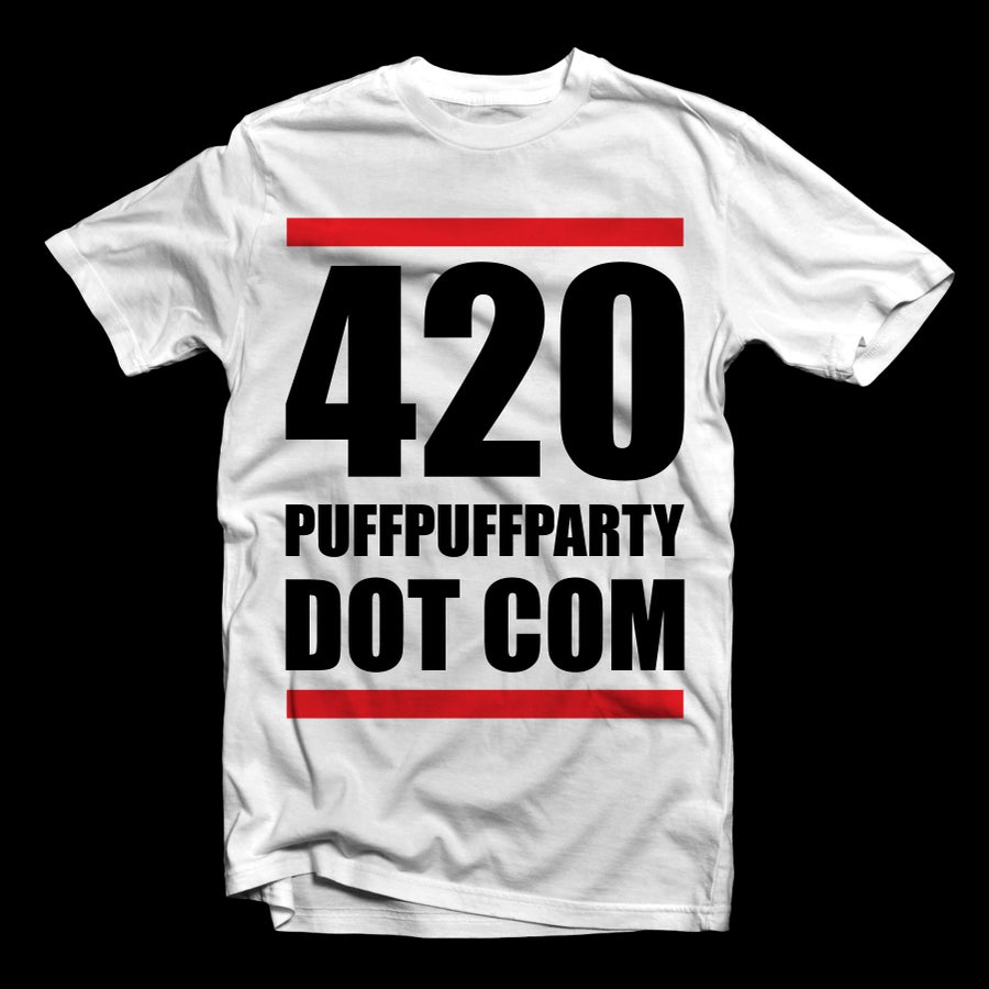 Image of {WHITE} 420 PUFFPUFFPARTY DOT COM