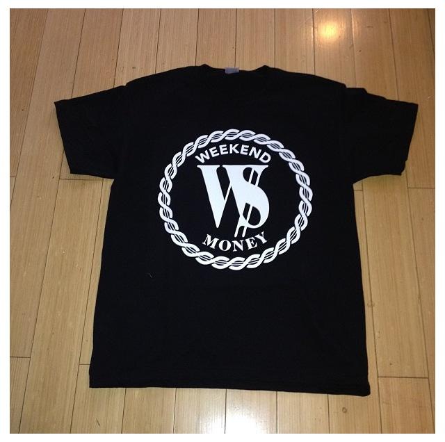 Image of W$ LOGO SHIRT BLACK/WHITE