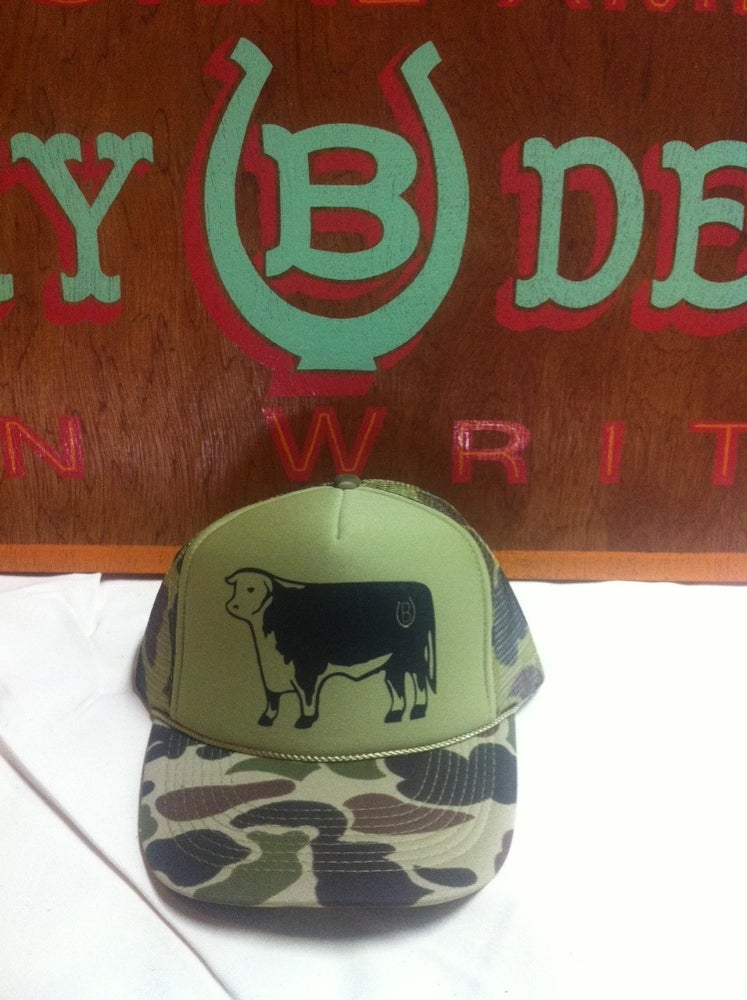 Image of Lucky B Design Camo Hereford Truckers Hat