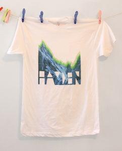 Image of Mountain White Crew Neck Shirt