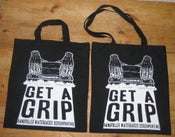 Image of GET A GRIP cotton Tote bag