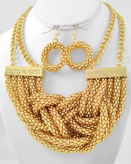 Image of Knotted Necklace Set