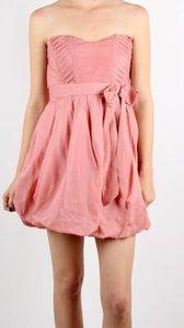 Image of April - Salmon Bubble Hem Dress