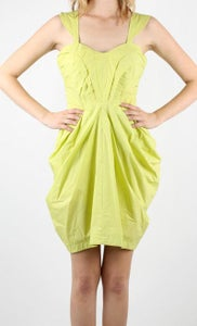 Image of Ella - Yellow Pleated Dress