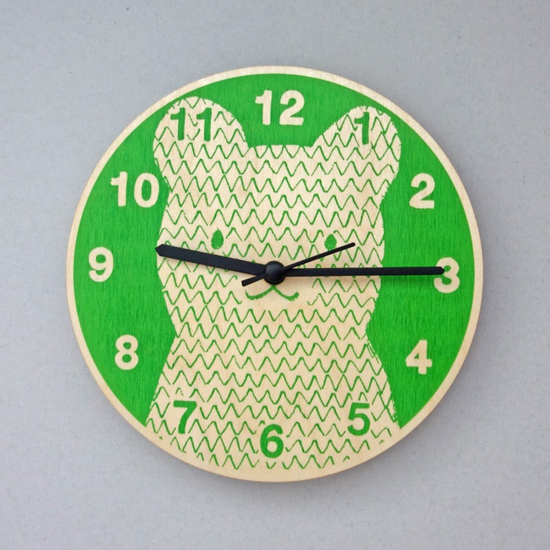 Image of Silent Wall Clock | Bear