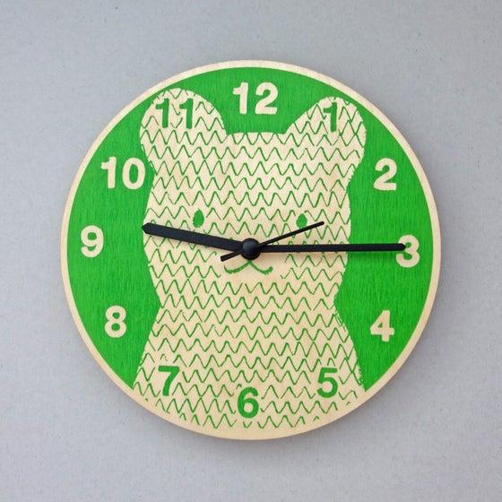 Image of Silent Wall Clock   Bear