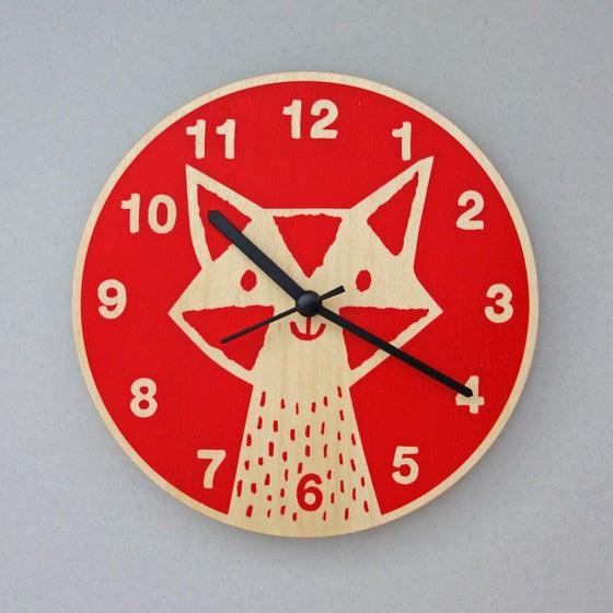 Image of Silent Wall Clock   Fox