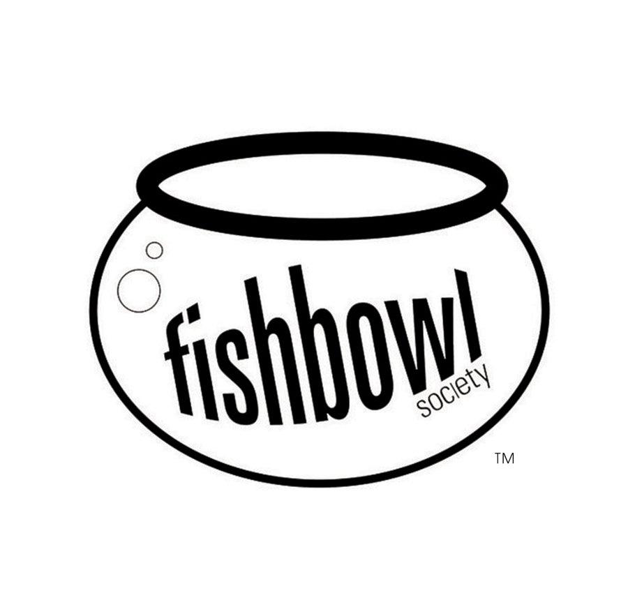 Image of Fishbowl Society Sticker (white)