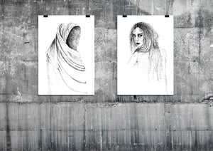 Image of EMPTY SCARF AND NAKED GIRL