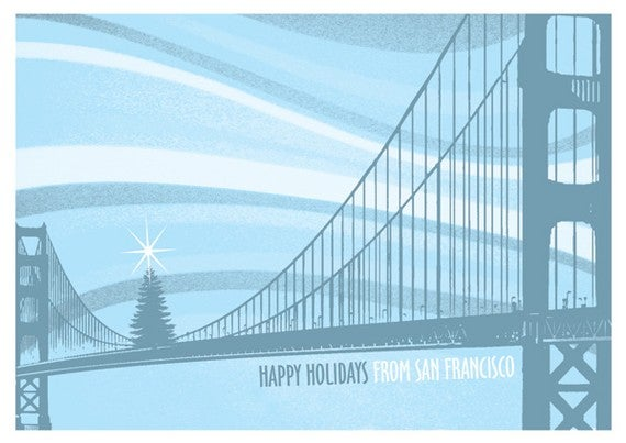 Gigart San Francisco Golden Gate Bridge Tree Holiday