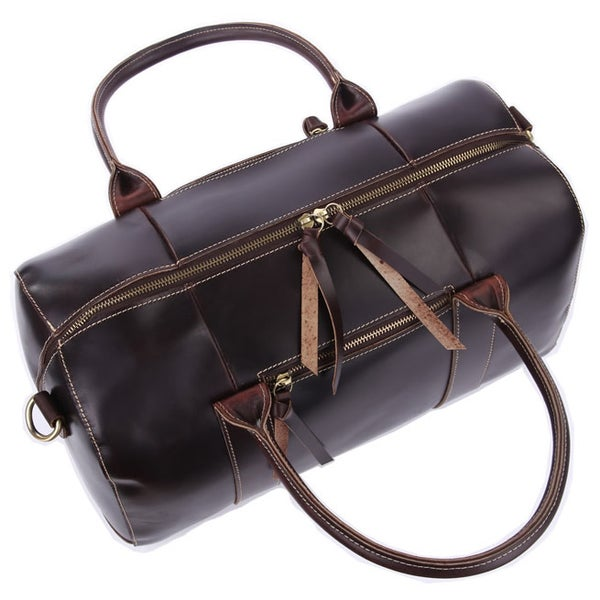 Image of Handmade Leather Travel Bag / Tote / Messenger Bag / Overnight Bag / Weekend Bag (n06-2)