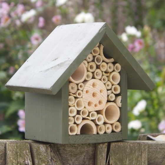 Image of Single Tier Bee & Insect Hotel