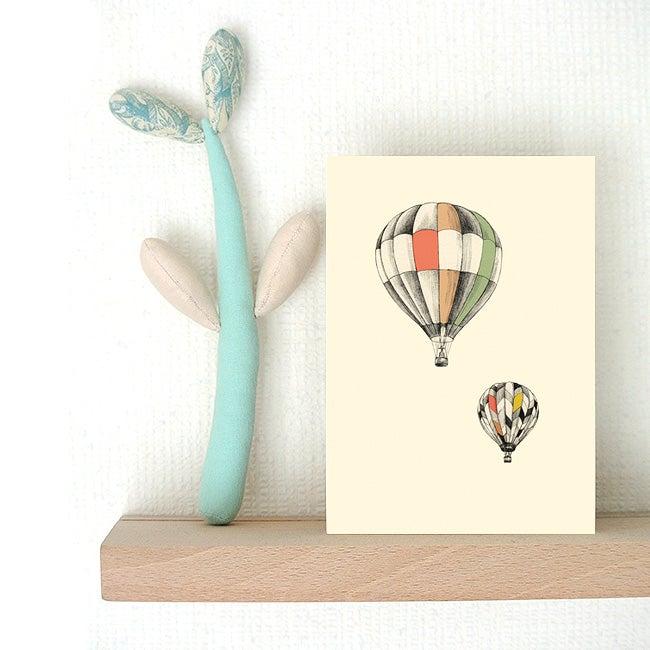 Image of Carte postale simple Les Montgolfières