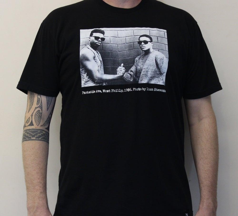 "Image of Schoolly-D & DJ Code Money ""Parkside 1986"" (photo by Linn Stevens) [BLACK]"