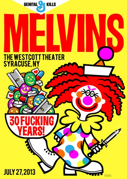 Image of Melvins Syracuse 30th Anniversary Tour