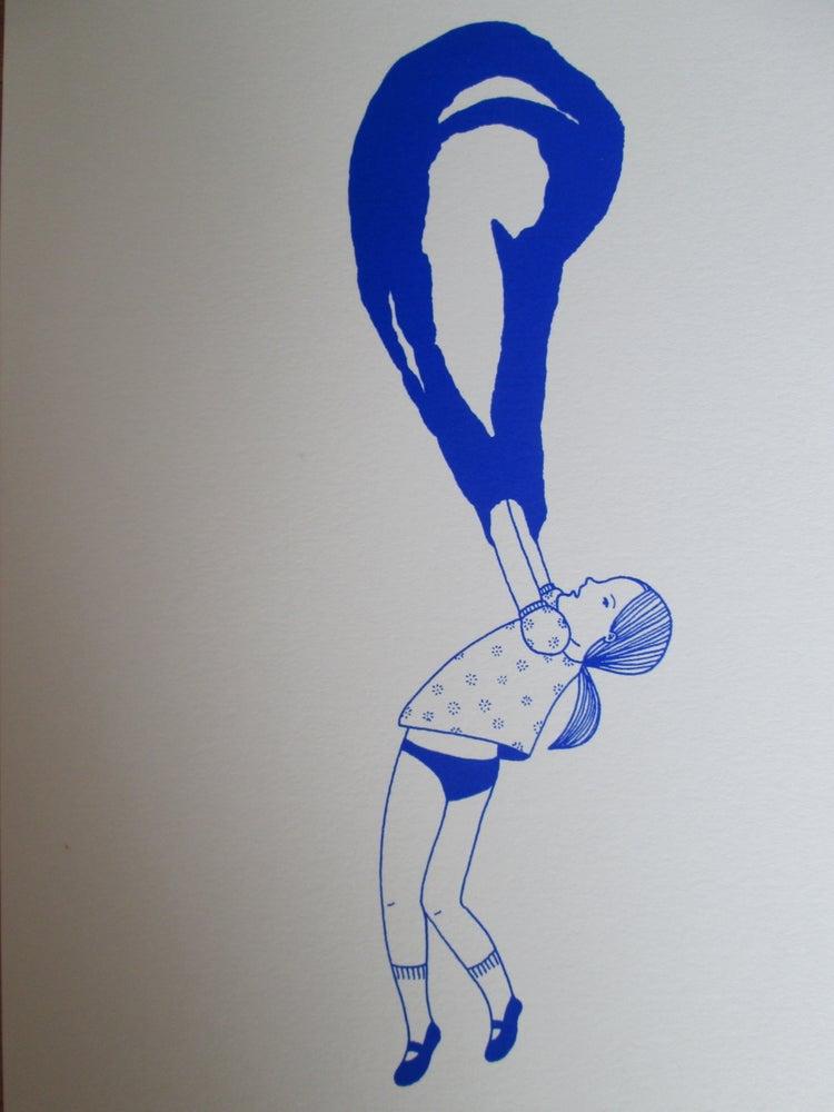 Image of La petite fille bulle bleue 2