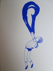 image de La petite fille bulle bleue 2