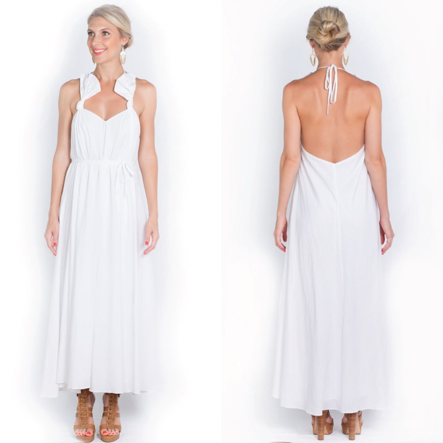 Image of all tied up maxi - white