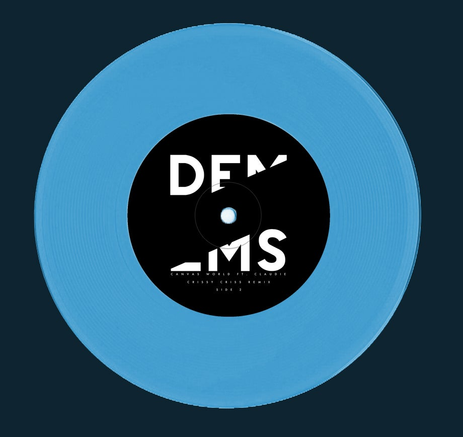 "Image of Dems - ""Canvas World ft. Claudie"" Single - Opaque Blue 7"" - (KMRLP021)"