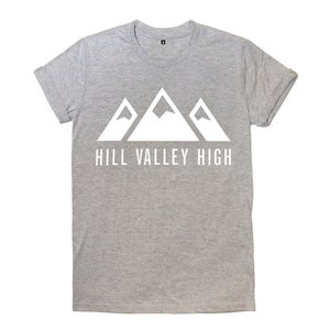 Image of Hill Valley High Grey Logo Tee