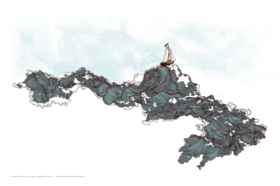 Image of I Love The Ocean Print