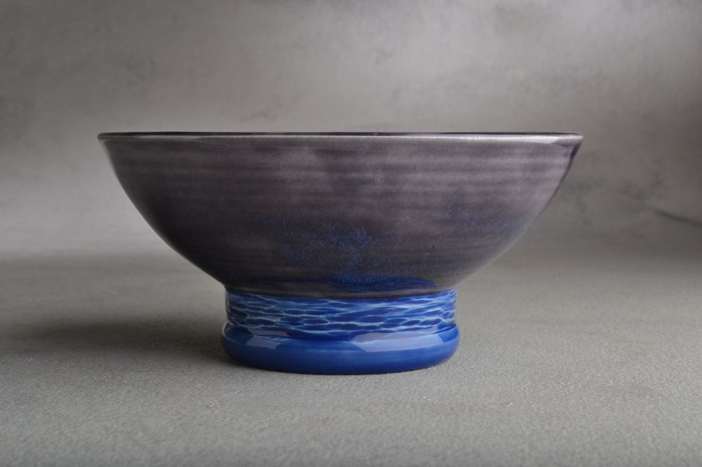Image of Dottie Shaving Bowl Dark Blue & Sapphire Made To Order