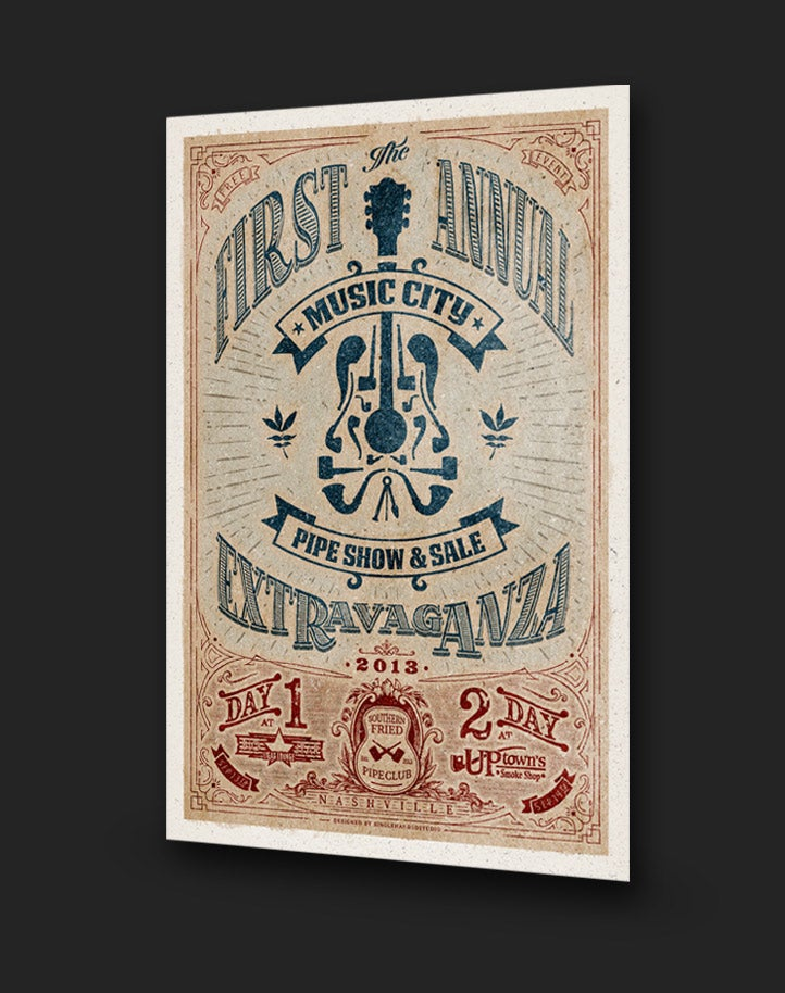Image of First Annual Music City Pipe Show & Sale | Poster