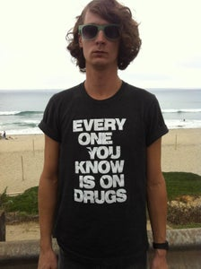 "Image of 40% OFF!! **Special** Gray ""Drugs"" shirt + ""Circuitry"" cd"