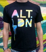 Image of ALT.LDN T-Shirt Blue on Black Repeat