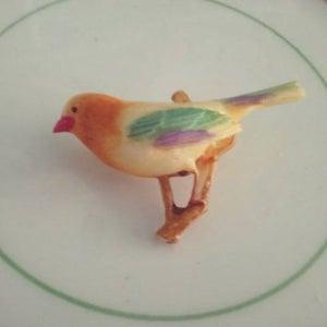 Image of Bird on branch brooch