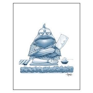 "Image of ""Sushi Chef"" Fish Print"