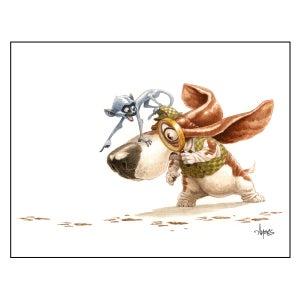 "Image of ""Herlock Hound Is On The Case"" Basset Hound Print"
